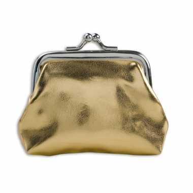 Carnavalskleding portemonnee goud metallic roosendaal