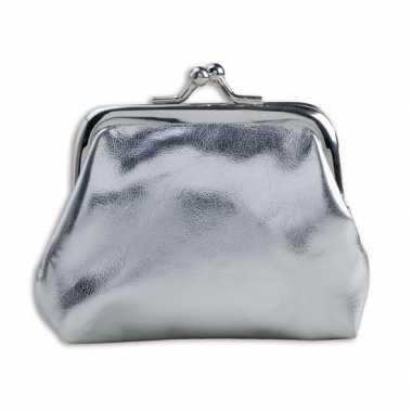 Carnavalskleding portemonnee zilver metallic roosendaal