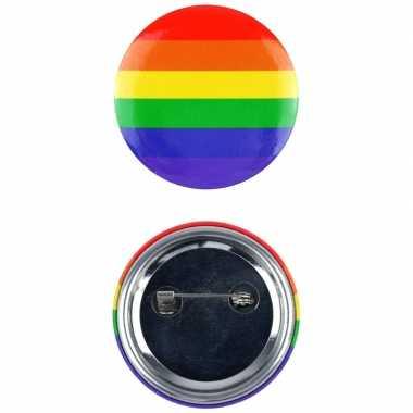 Regenboog pride kleuren mini tas pin/broche carnavalskleding roosenda