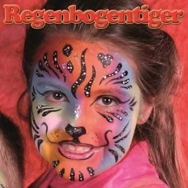 Regenboog tijger schminken schminkset carnavalskleding roosendaal