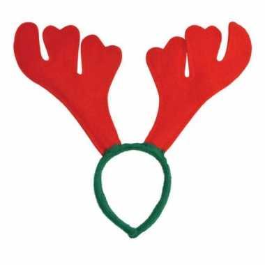 Rendier diadeem rood groen carnavalskleding roosendaal