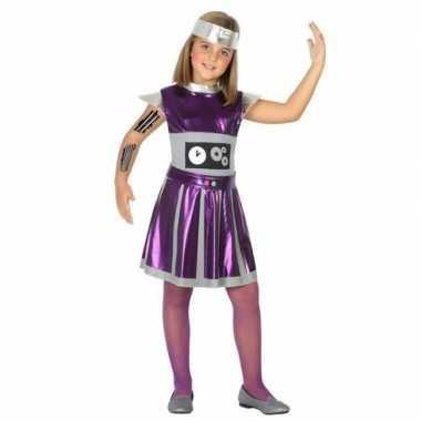 Robot verkleed jurk/jurkje meisjes carnavalskleding roosendaal