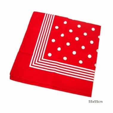 Carnavalskleding rode boeren zakdoek stippen roosendaal