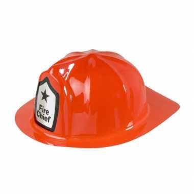 Carnavalskleding rode brandweer helm roosendaal