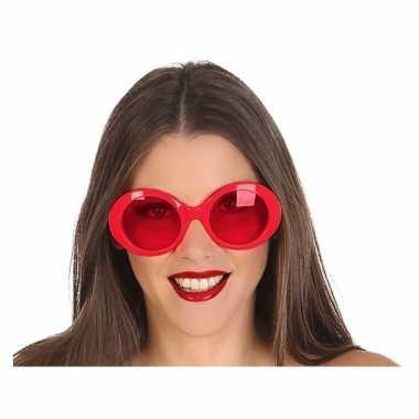 Rode ronde verkleed zonnebril carnavalskleding roosendaal