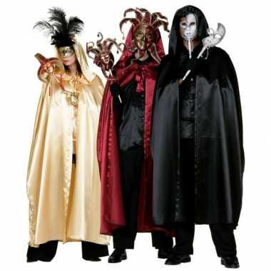 Carnavalskleding rode satijnen cape volwassenen roosendaal