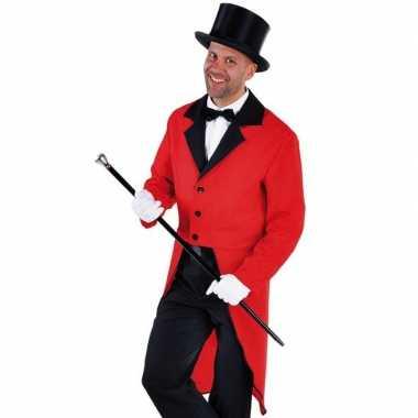 Rode slipjas zwarte hoge hoed maat l carnavalskleding roosendaal