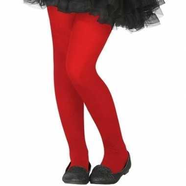 Rode verkleed panty kinderen carnavalskleding roosendaal
