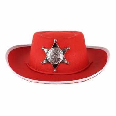Carnavalskleding rode vilt cowboyhoed kinderen roosendaal