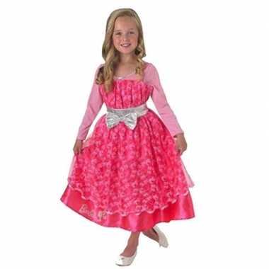 Roze barbie deluxe jurk meisjes carnavalskleding roosendaal