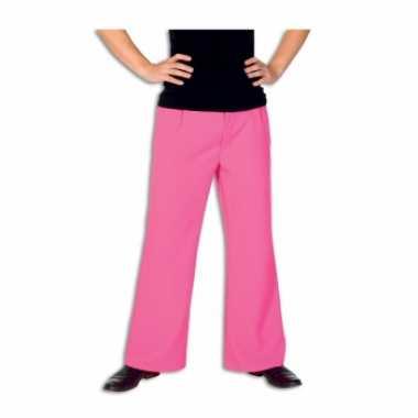 Carnavalskleding roze lange broek heren roosendaal