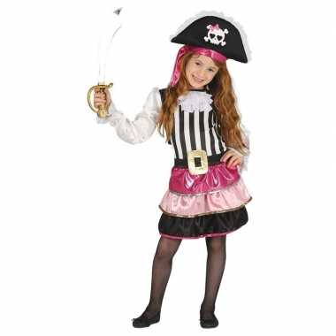 Roze piraten verkleedjurkje meisjes carnavalskleding roosendaal