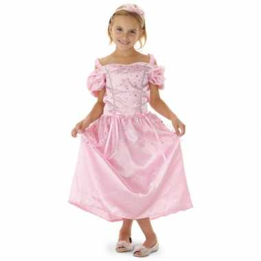 Roze prinsessen jurk haarband meisjes carnavalskleding roosendaal