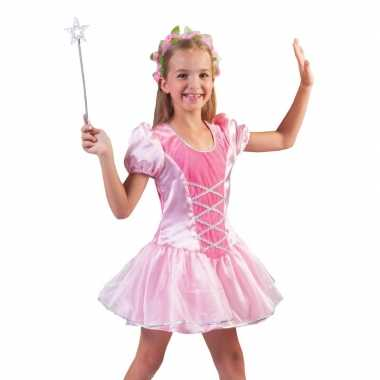 Roze prinsessen verkleed jurkje meisjes carnavalskleding roosendaal