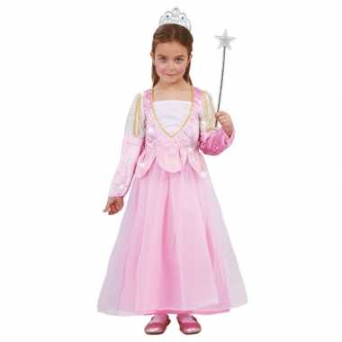Roze prinsessenjurk pailletten carnavalskleding roosendaal
