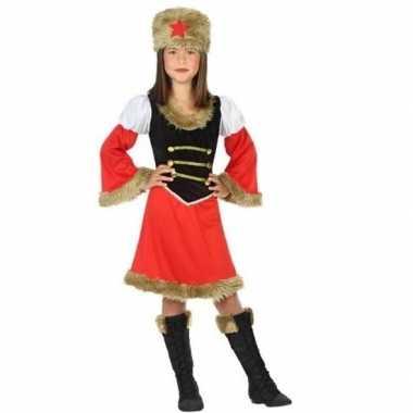 Russische kozakken verkleed jurk meisjes carnavalskleding roosendaal