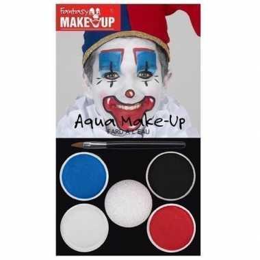 Schmink set horror clown kleuren carnavalskleding roosendaal