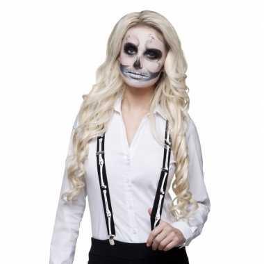 Skelet bretels volwassenen carnavalskleding roosendaal