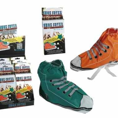 Sneaker schoenhoezen plastic carnavalskleding Roosendaal
