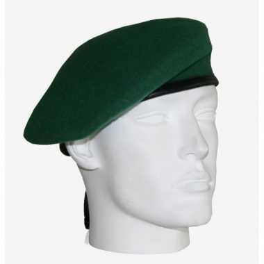Soldaten baret commando groen carnavalskleding Roosendaal