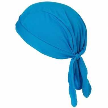 Sport bandana volwassen blauw carnavalskleding roosendaal