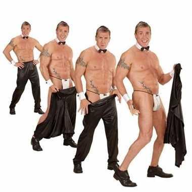 Stripper broek zwart heren carnavalskleding roosendaal