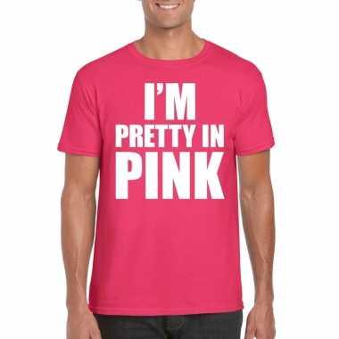 Toppers i am pretty pink shirt roze heren carnavalskleding roosendaal