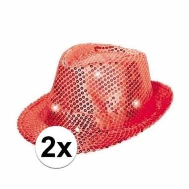 Toppers rode pailletten hoedjes led licht carnavalskleding roosendaal