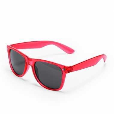 Toppers rode verkleed accessoire zonnebril volwassenen carnavalskledi