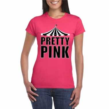 Toppers t shirt roze pretty pink dames carnavalskleding roosendaal