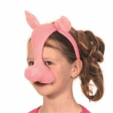 Carnavalskleding varkens diadeem geluid roosendaal