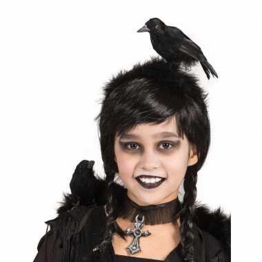 Verkleed diadeem zwarte kraai carnavalskleding roosendaal