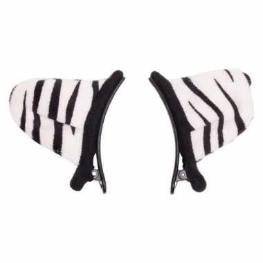 Verkleed/speelgoed tijger wit dieren oortjes clip kinderen carnavalsk