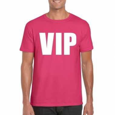 Vip tekst t shirt roze heren carnavalskleding roosendaal