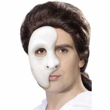 Wit phantom of the opera masker heren carnavalskleding roosendaal