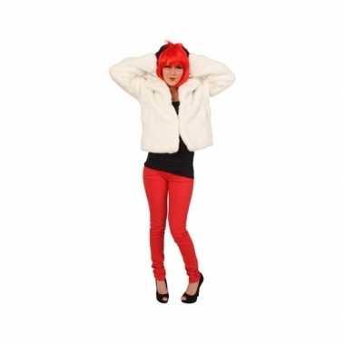d5d0e0987d6ae3 Witte korte bontjas dames carnavalskleding roosendaal ...