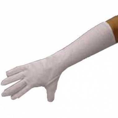 Witte lange handschoenen carnavalskleding roosendaal