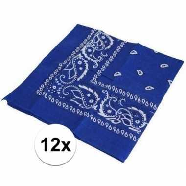 X blauwe boeren zakdoeken carnavalskleding roosendaal