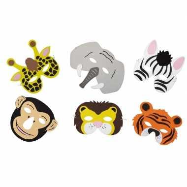 X dieren foam maskers kinderen carnavalskleding roosendaal