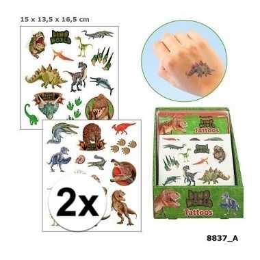 X dinosaurus plak tattoos jongens dino world carnavalskleding roosend