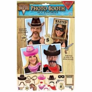 X foto props cowboy feestje carnavalskleding roosendaal