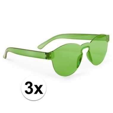X groene verkleed zonnebrillen volwassenen carnavalskleding roosendaa
