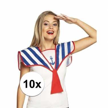 X matrozen verkleed kraag gestreept carnavalskleding roosendaal