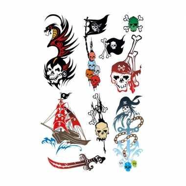 X piraten thema plak tattoo stickers carnavalskleding roosendaal