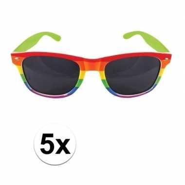 X regenboog feest brillen volwassenen carnavalskleding roosendaal