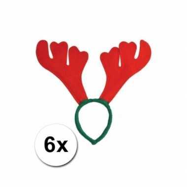 X rendier diadeem rood groen carnavalskleding roosendaal