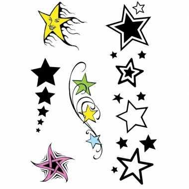 X velltjes sterren tattoos stuks per vel carnavalskleding roosendaal