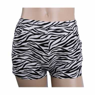 Carnavalskleding zebra print hotpants dames roosendaal