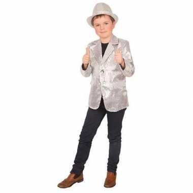 Zilver glitter verkleed jasje kinderen carnavalskleding roosendaal