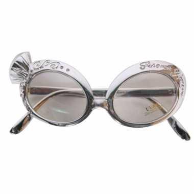 Zilveren diamand bril deluxe carnavalskleding Roosendaal